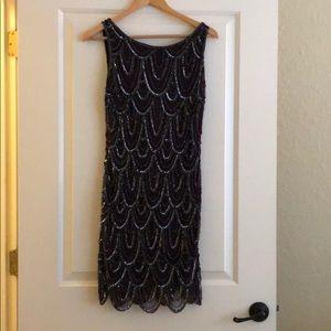 Nordstrom Beaded Dark Purple Dress